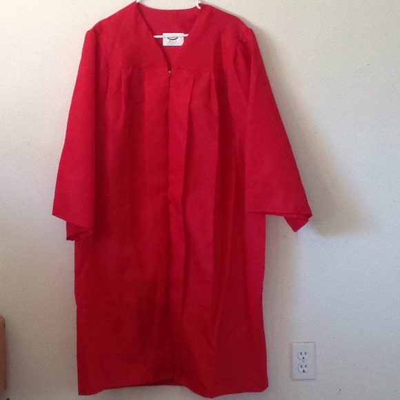 Other | Jostens Red Cap Gown Size 51 To 53 Graduation | Poshmark